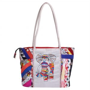 Indian Handicraft Shoulder Bag with Elephant Embroidery