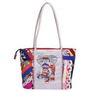 Multicolor Cotton Patch Ethnic Shoulder Bag For Girls/Women