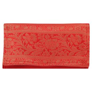 Indha Craft Small Zari Work Red Colour Clutch Purse For Girls / Womens