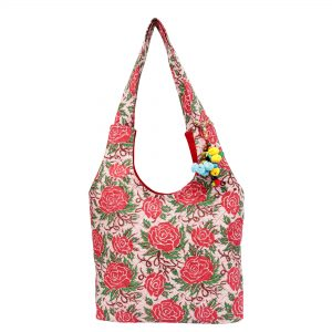 Indha Craft Cotton Hand Block Printed Shoulder Bag For Girls/Women