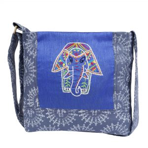 Tribal Art Hand Block Printed Ethnic Sling Bag for Girls/Ladies/Women