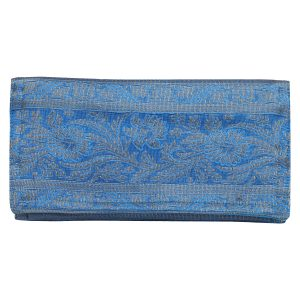Indha Craft Sky Blue Womens/Ladies Ethnic Clutch Purse