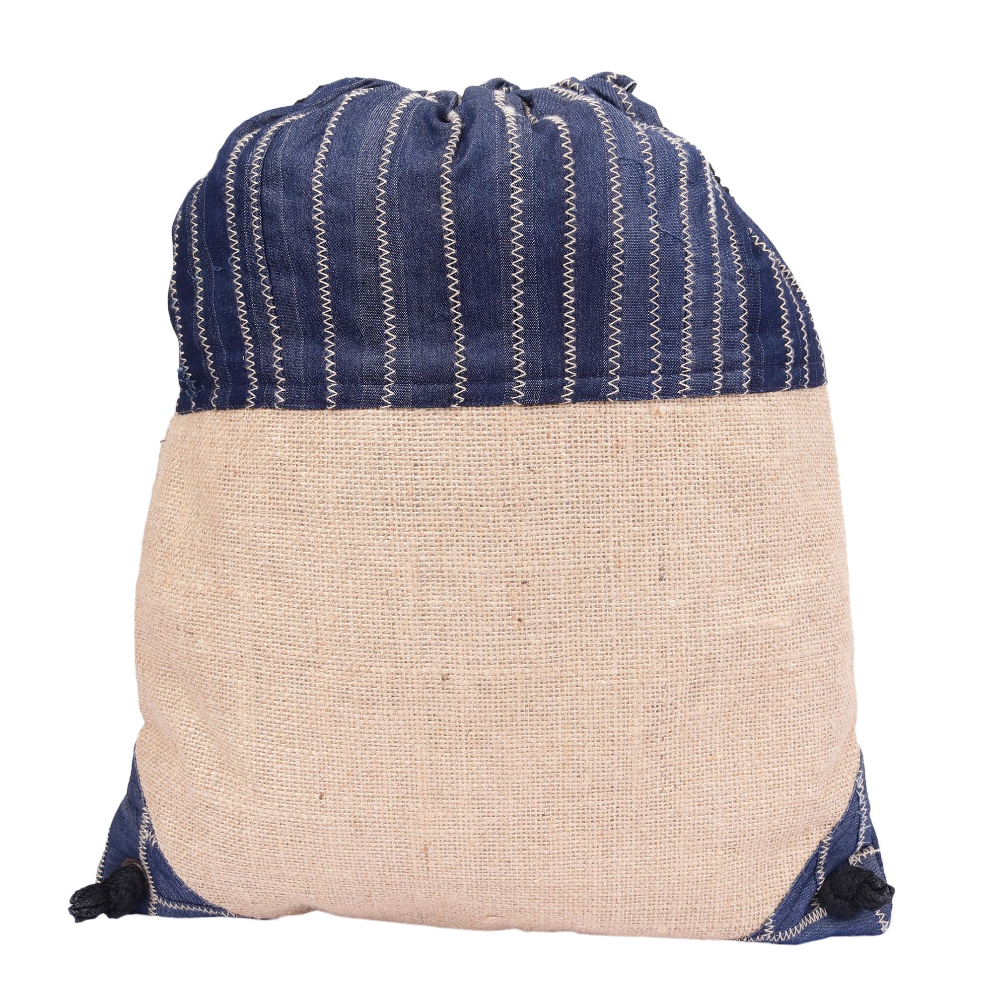 c89923e3d361 Brown Colour Jute Drawstring Bag for Boys/Men
