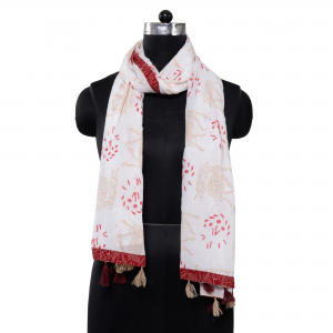 Ethnic Hand Block Printed Cotton Stole