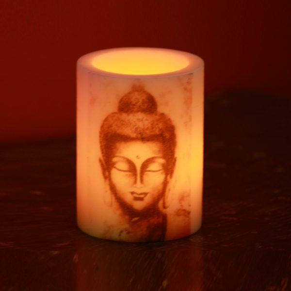 buddha print hollow candle