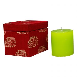 Handmade Mdf Gift Box & Candle Combo Set