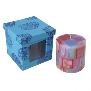 Buy Multicolour Chunk Pillar Candle at Indha Craft
