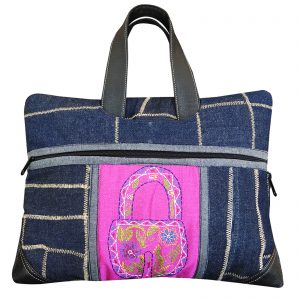 14″ Handmade Denim Laptop Bag