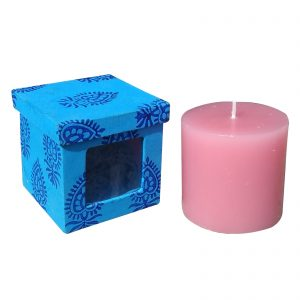 Rose Scented Paraffin Wax Pillar Candle