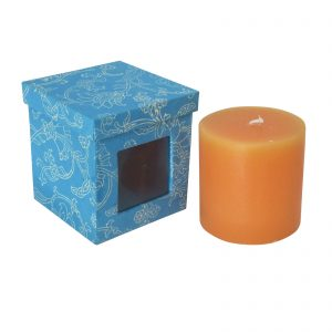 Decorative Scented Wax Pillar Candle