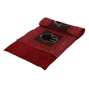 Hand Embroidered Maroon Colour 6 Seater Table Runner