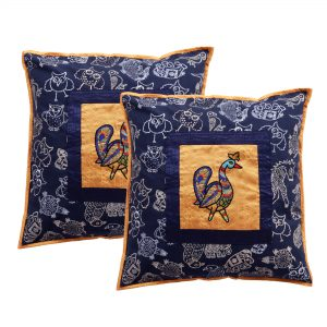 Traditional Hand Block Printed Pack of 2 Cushion Cover