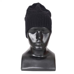 Indha Craft Black Woollen Cap for Girls/Women