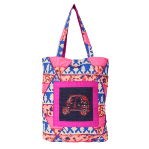 Indha Craft Multicolour Cotton Shopping Bag/Tote Bag for Women