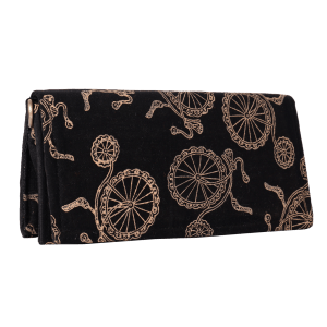 Indha Craft Cotton Hand Block Printed Black Sling Clutch purse For Girls/Women