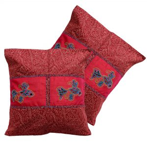 Indha Craft 16″ Cotton Hand Block Print Ethnic Cushion Cover Pack of 2