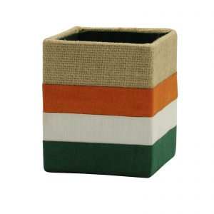 Indha Craft Handmade Natural Jute Square Pen Stand