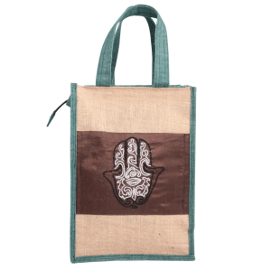 Indha Craft Handmade Jute Lunch Bag for Men/Women