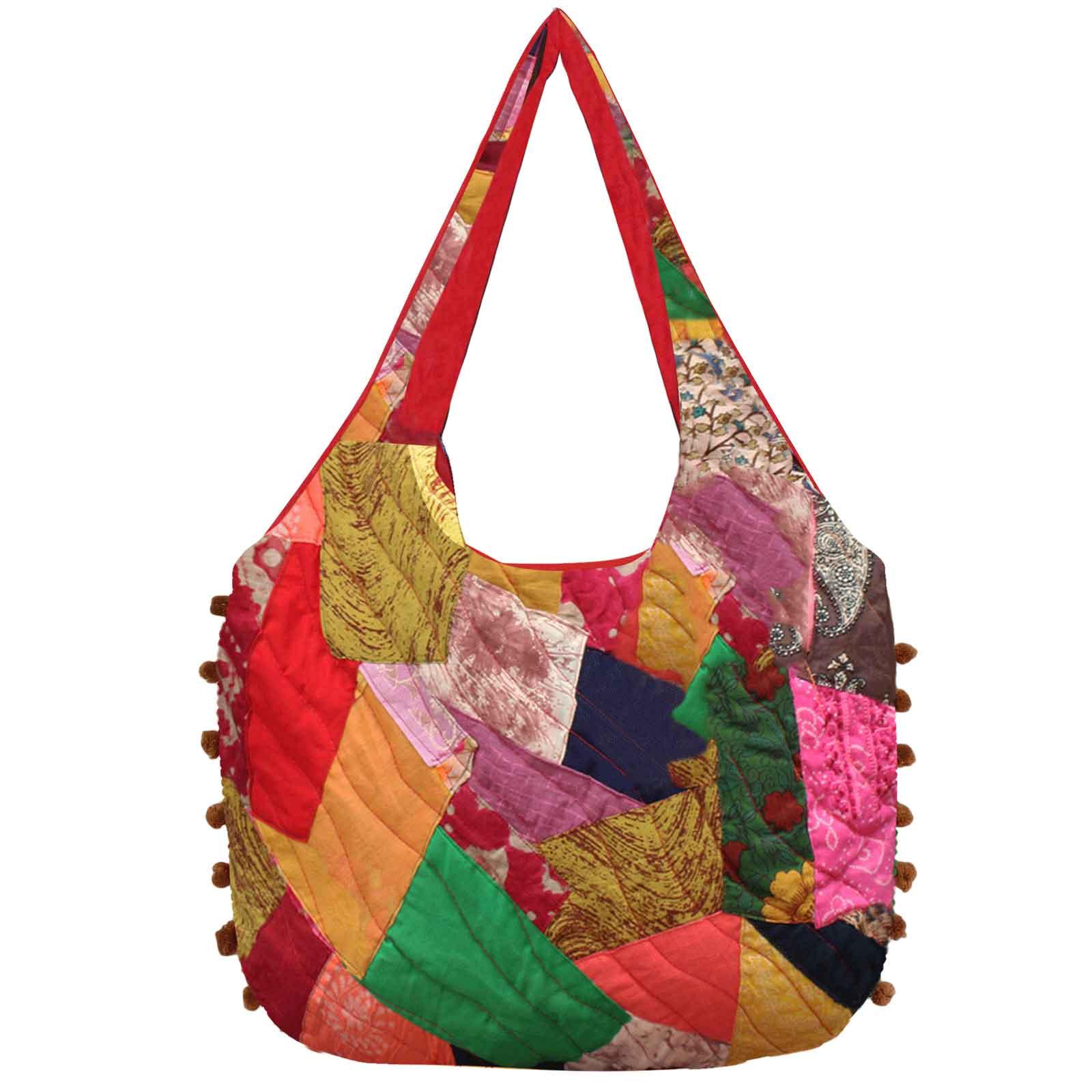 Cotton Patchwork Bag Patchwork Rag Bag Patchwork Tote