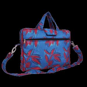 Indha Craft Leaf Print 15″ Laptop Bag for Men/Women (Blue Colour