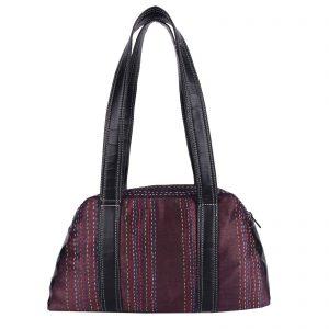 Indha Craft Smoky Purple Kantha Work Stylish Partywear Hand bag for Girls/Women