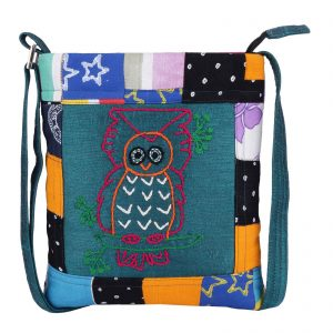 Indha Craft Multicolour Patchwork Ethnic Sling bag Girls/Women