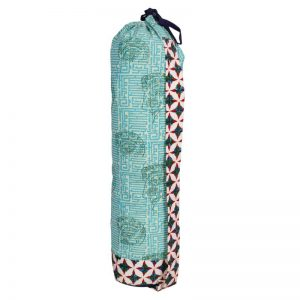 Indha Craft Hand Block Printed Cotton Fabric Stylish Yoga Mat Cover/ Yoga Mat Bag for Men/Women