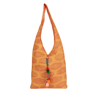 Indha Craft Cotton (Voil) Hand Block Printed Yellow Colour Jhola Bag for Girls/Women
