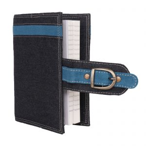 Indha Craft Denim Diary Cover with Belt for Men/Women