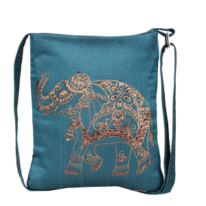 Indha Craft Elephant Hand Block Printed Sling Bag for Girls/Women