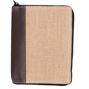 Indha Craft Jute and Artificial Leather IPad Cover/Tablet Sleeves (Brown)
