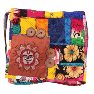 Indha Craft Sun Embroidery Work Cotton Patchwork Multi Coloured Sling Bag for Girls/Women