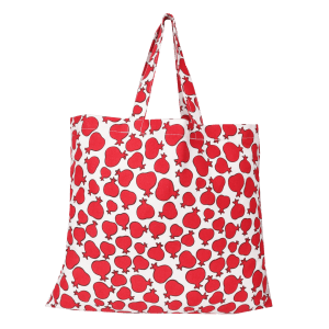 Indha Craft pomegranate Print Canvas Vegetable/Fashionable Shopping Bag in Daily Needs