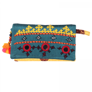 Indha Craft Sindhi Hand Embroidery Work Small Clutch Purse for Girls/Women