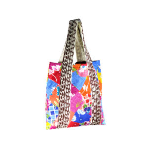 Indha Craft Cotton Patchwork Multicolour Shopping/Grocery Carry Bag