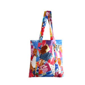 Indha Craft Multicolour Cotton Patchwork Stylish Shopping Bag/Grocery Carry Bag