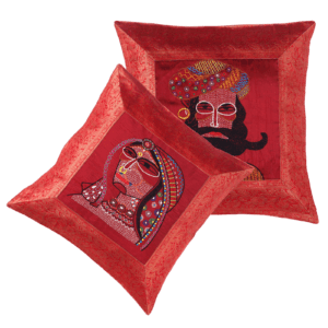 Indha Craft Royal Rajasthani Embroidered Pack of 2 Cushion Cover