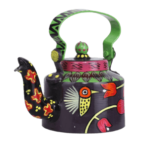 Indha Craft Hand Painted Metal Kettle