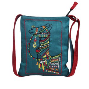 Indha Craft Beautiful Hand Embroidery Camel Motif Sling bag for Girls/Women
