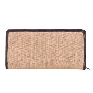 Indha Craft Hand Made Cheque Book Holder Jute & Artificial Leather