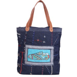 Indha Craft Tote Bag Shoe Hand Embroidered
