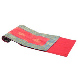 Indha Craft Red Colour 6 Seater Dining Table Runner