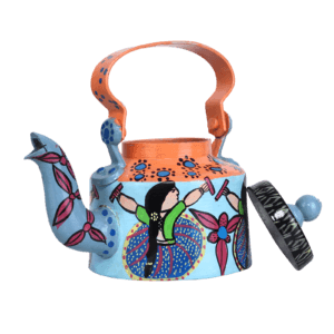 Indha Craft Colourfull Handpainted Tabletop Tea Kettle