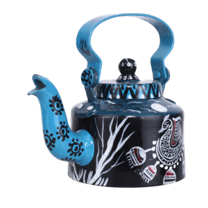 Indha Craft Handpainted Blue Colour Decorative Kettle