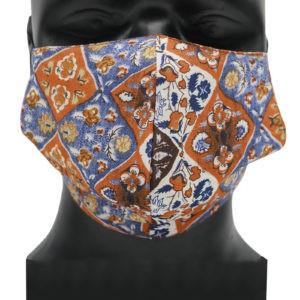 Indha Craft Multicolour Unisex Reusable Cotton Face Mask ( Set of 2 )