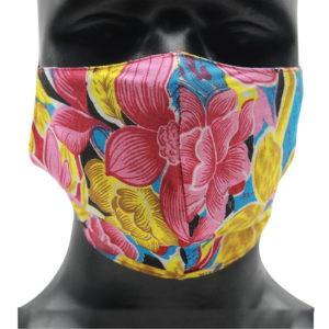 Indha Craft Cotton Breathable Unisex Multicolour Unisex Mask (Set of 2)