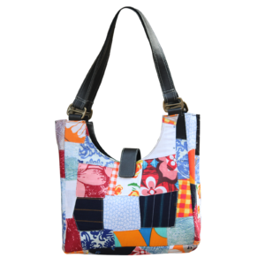 Indha Craft Multicolour Cotton Patchwork Hand Bag for Girls/Women