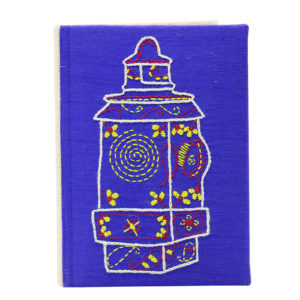 Indha Hand Embroidered Blue Colour Recycled Paper Diary