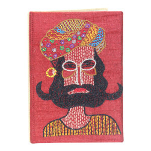 Indha Craft Maroon Colour Hand Embroidered Recycled Paper Diary