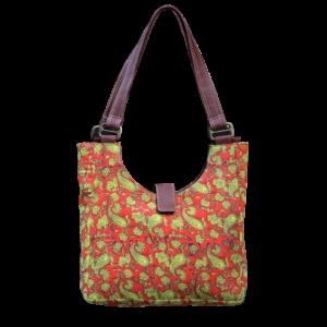 Indha Craft Cotton Flower Block Printed Shoulder Bag/Hand Bag for Girls/Women